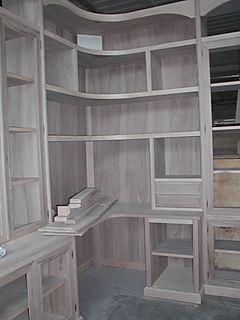 libreria con scrivania ad angolo, scrivania ad angolo, libreria ad angolo