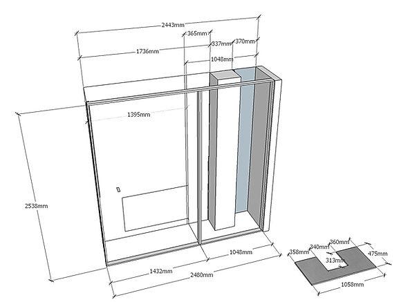 Progettazione armadio ingresso a muro