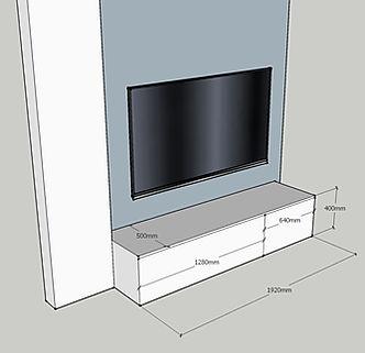 Porta tv moderno su misura laccato
