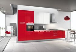 Cucina ante rosso lucido