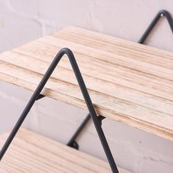 Libreria ferro e legno a muro