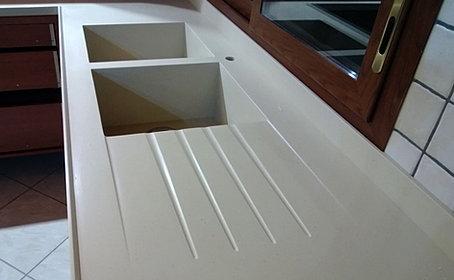 piano cucina in corian 5 cm sp