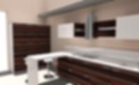 Cucina moderna zebrano in multistrato