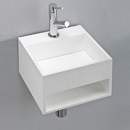Mobile bagno quadrato sospeso in corian