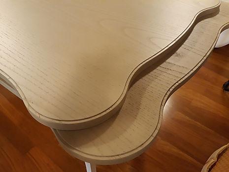 Tavolo classico sagomato