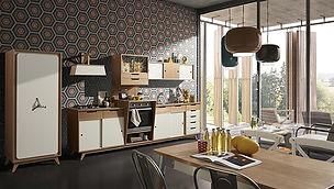 cucine vintage, cucine rivisitate, cucine anni 70
