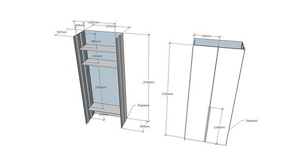Progettazione armadio ingresso