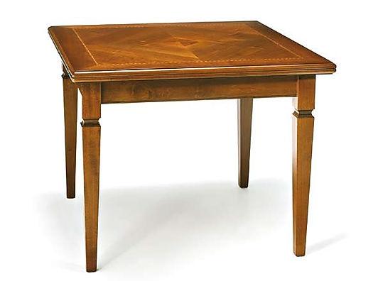 Tavolo quadrato intarsiato
