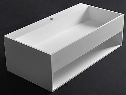 Mobile bagno rettangolare sospeso in solid surface