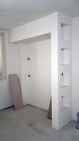 Nicchie in cartongesso, parete in cartongesso