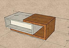 tavolino grezzo da salotto, tavolino moderno grezzo