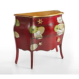Como 3 cassetti, comò 3 cassetti decorato, comò con decoro moderno