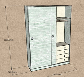 Armadio su misura, armadio ingresso su misura, armadio moderno su misura