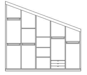 armadio mansardato, misure e prezzi armadio mansardato su misura, armadio mansardato grezzo