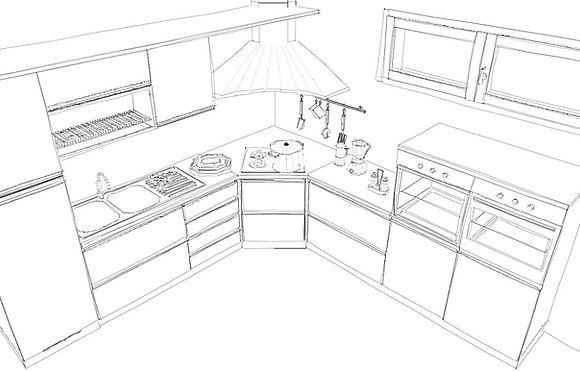 Cucine su misura, cucine classiche, cucine moderne, piano in corian, cucine in legno