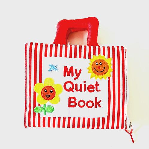 My Fabric Quiet Book - Red Stripe