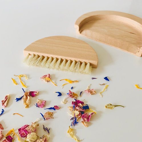 Wooden Table Sweeping Set
