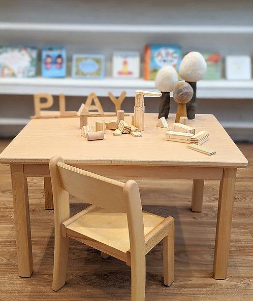 Montessori Toddler (12 - 36 months) Table Set Solid European Beech Wood