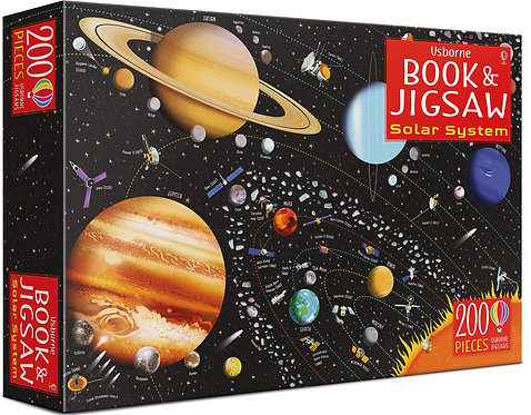Book and Jigsaw Puzzle: The Solar System
