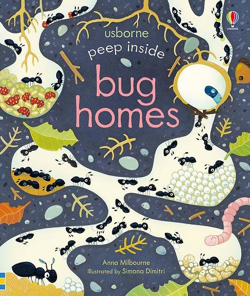 Peep Inside Bug Homes (Board Book)