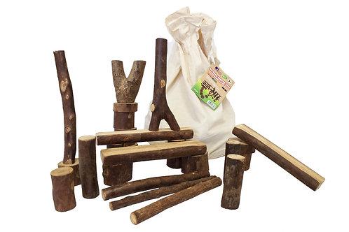 Natural Barked Tree Blocks 42 Pieces