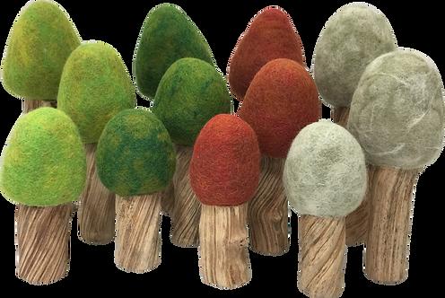 Papoose Four Season Trees Set of 12