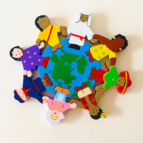 Children of the World Puzzle 23x23 cm