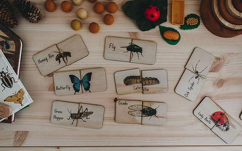 18 Piece Australian Themed Matching Puzzles - Garden Bugs