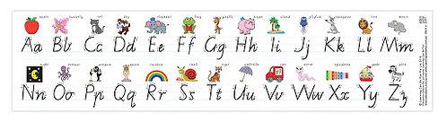 Modern Cursive Alphabet Desk Strip (VICTORIAN)