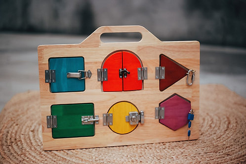 Montessori Lock Activity Board