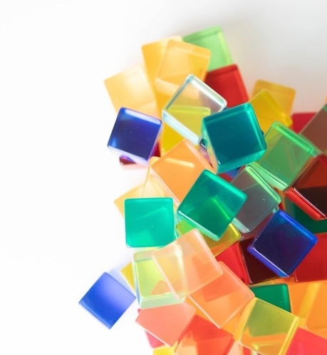 Bauspiel Acrylic Cubes 20pc