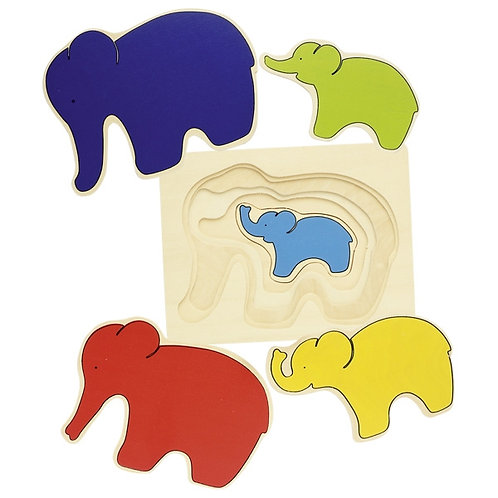 Elephant Layered Puzzle