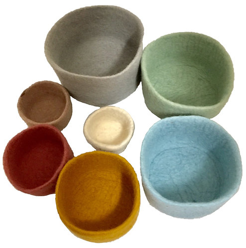 Earth Nested Bowl Set of 7 pieces