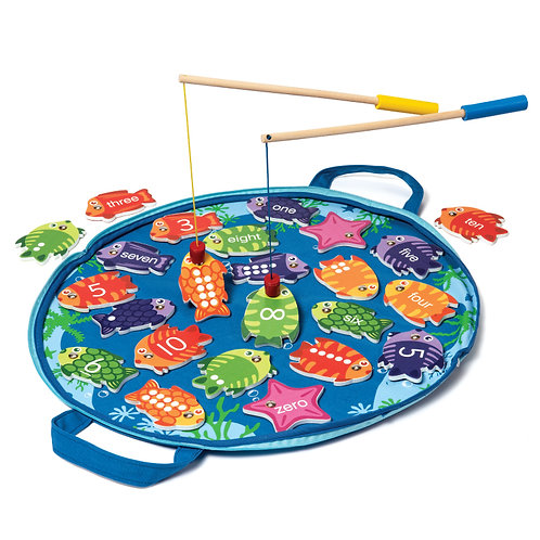 Magnetic Zero to Ten Fishing Game