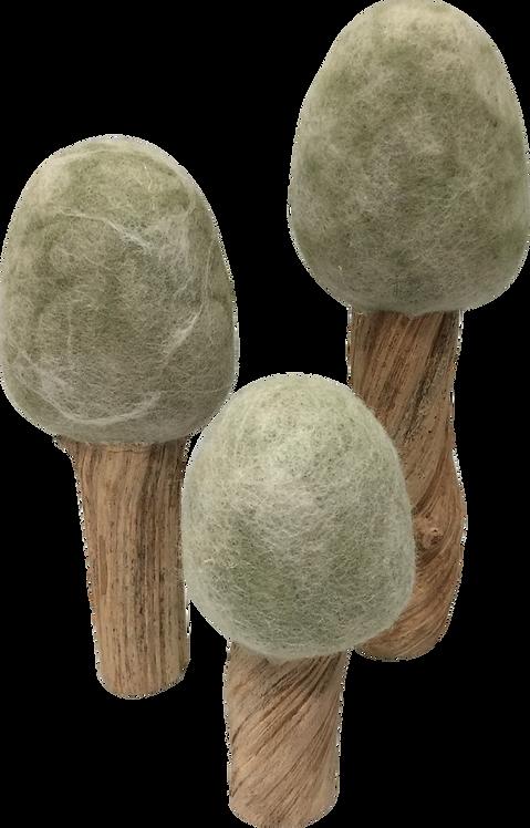 Papoose Four Season Trees Set of 3 Winter