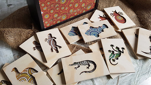18 Piece Double Sided Indigenous Memory Game