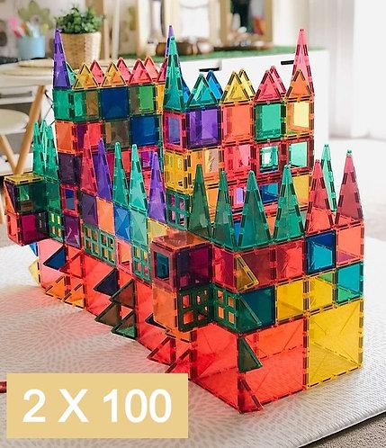 2 x Connetix Tiles 100p Set