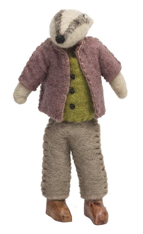 Felt Mr Badger Doll