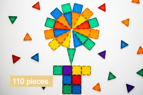 Learn & Grow Toys Magnetic Tiles - 110 piece set