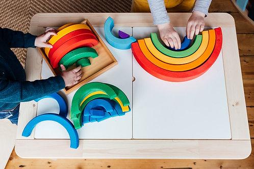 Bauspiel Stackable Rainbows Set - 32 pieces
