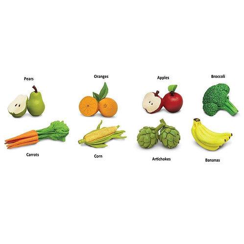Fruits & Vegetables Montessori Language Learning Figurines