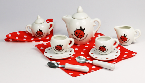 Ladybug Tea Set 13pcs with Carry Case