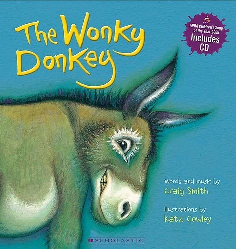 The Wonky Donkey (Board Book with CD)