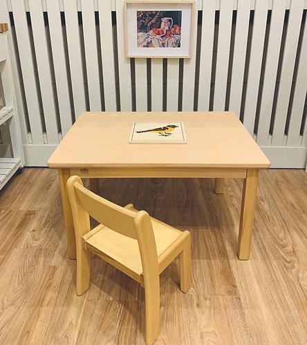 Montessori Toddler (12 - 36 months) Activity TABLE European Beechwood 60 x 80cm