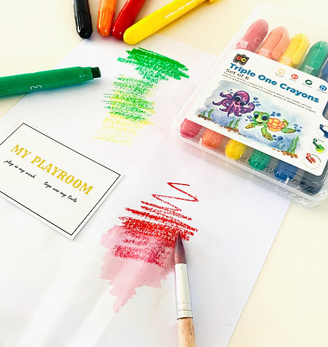 Super Smooth Triple One Crayons Set of 6