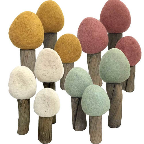 Papoose Earth Forest Trees Set of 12