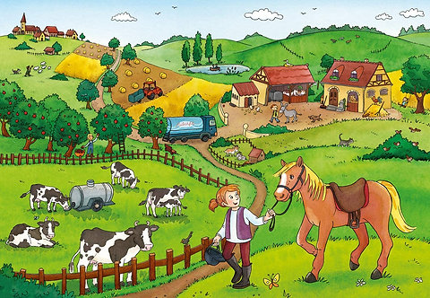 Working on The Farm Puzzle (2 x 12 Piece)