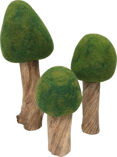 Papoose Four Seasons Trees Set of 3 Summer