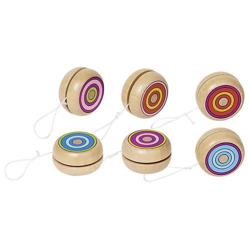 2 Piece Wooden Colourful Yo-Yo