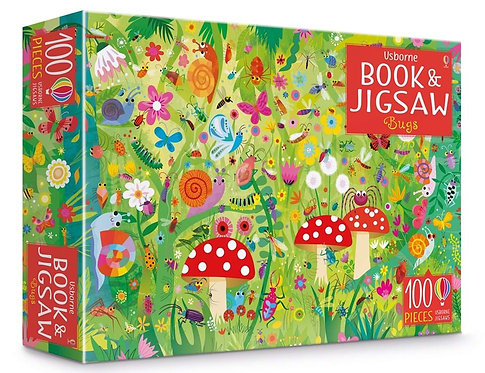 Book and 100-Piece Jigsaw Puzzle: Bugs